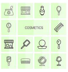 14 cosmetics icons vector