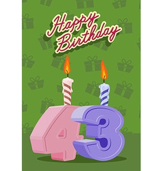 43 year Happy Birthday Card vector