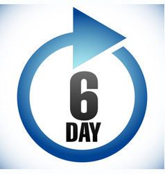 6 day turnaround time tat icon interval for vector