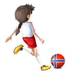 A player using the ball from Norway vector