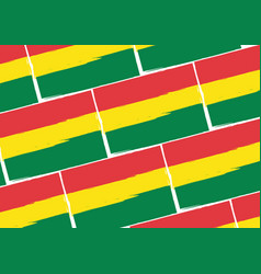 abstract bolivian flag or banner vector image