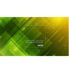 abstract geometric shapes on green background vector image