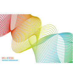 abstract winding ribbon of the rainbow isolated vector image