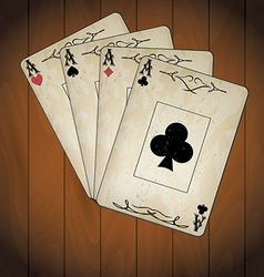 Ace of spades ace of hearts ace of diamonds ace of vector image