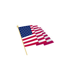 american flag waving usa flag with sharp corners vector image