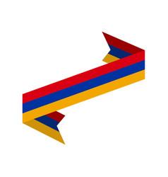 armenia flag ribbon isolated armenian tape banner vector image