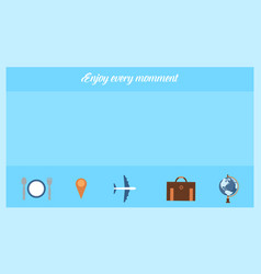 Background of travel and holiday style vector