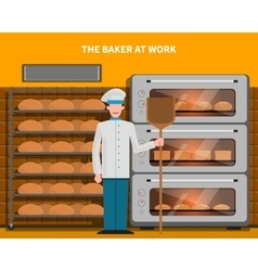 Baker at work concept vector