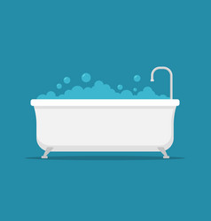 bath tub shower icon bathtub clipart vector image