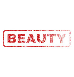 beauty rubber stamp vector image