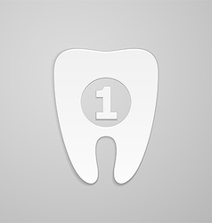 Best tooth vector image