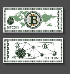 bitcoin dollar banknote template vector image