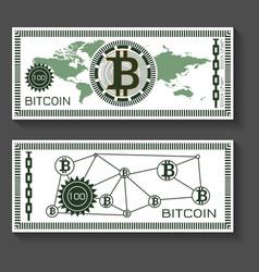 bitcoin dollar banknote template vector image