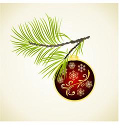 christmas and new year christmas ornaments vector image