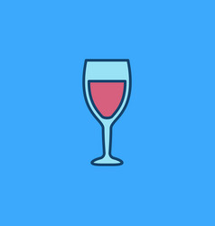 colorful wine glass icon vector image
