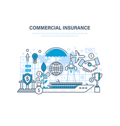 commercial insurance insurance of business ships vector image