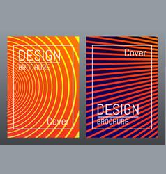 cover design for brochure magazine poster flyer vector image