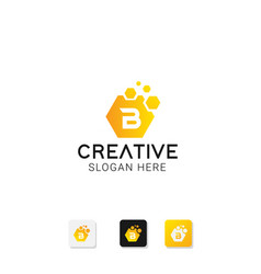 Creative letter b logo vector