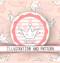 cute and pattern vector image