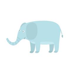 cute cartoon blue elephant with big ears vector image