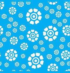 cute seamless colorful floral pattern vector image