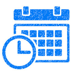 Date and time grunge icon vector