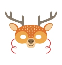 Deer Animal Head Mask Kids Carnival Disguise vector