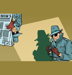 Detective spy background concept vector