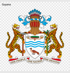 Emblem of guyana vector