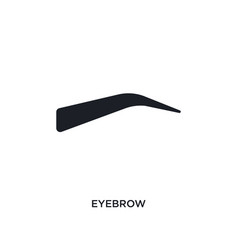 Eyebrow isolated icon simple element from woman vector