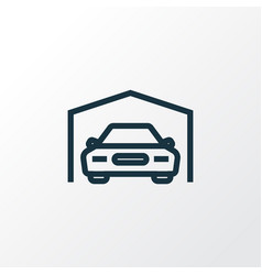 Garage outline symbol premium quality isolated vector