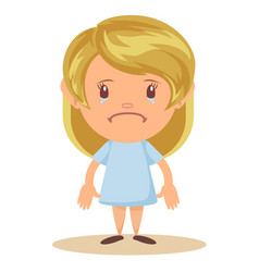 girl crying gesture vector image