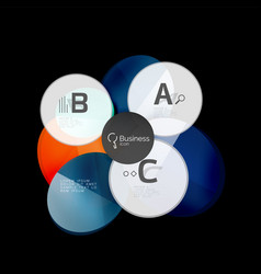 glass color circles - infographic elements on vector image