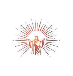 god jesus christ grace good ascension concept vector image