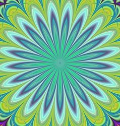 Green geometric floral fractal design background vector