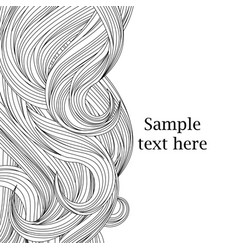 Hair outlined background beauty salon wallpaper vector