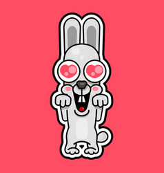 i love my pet rabbit and heart vector image