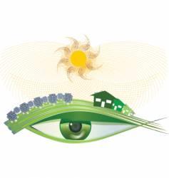 I see green solar vector