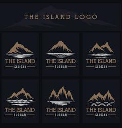 island logo vector image