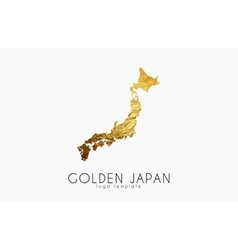 Japan map logo vector