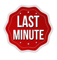 last minute label or sticker vector image