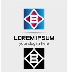 Letter B logo vector