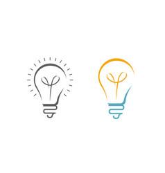 light bulb logo business idea symbol or icon vector image