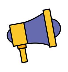 megaphone advertising on white background vector image