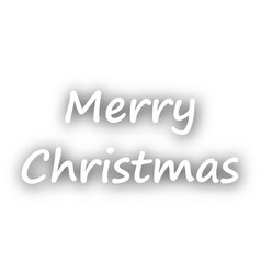 Merry christmas greetings on white vector