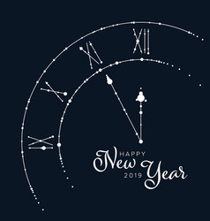minimalist new year flyercard template vector image