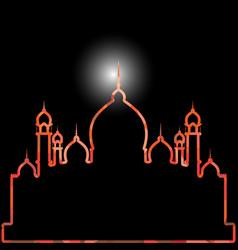 Mosque building icon image icon vector