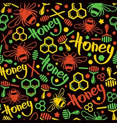 Natural honey seamless pattern vector