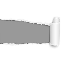 oblong torn hole from left to right vector image