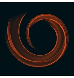 Orange bright flame helix ring abstract vector